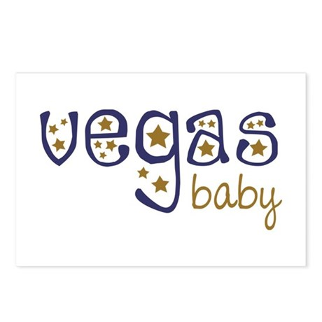 Vegas Baby Postcards (Package of 8)