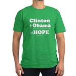 Clinton + Obama = Hope Men's Fitted T-Shirt (dark)