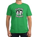 Clinton + Obama Men's Fitted T-Shirt (dark)