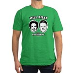 Hill Billy for President Men's Fitted T-Shirt (dar