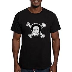 Hillary crossbones Men's Fitted T-Shirt (dark)