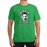 Barack my world Men's Fitted T-Shirt (dark)