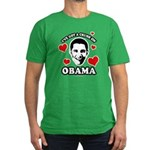 I've got a crush on Obama Men's Fitted T-Shirt (da