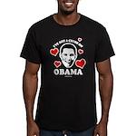 I've got a crush on Obama Men's Fitted T-Shirt (da