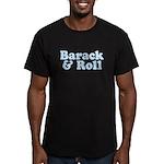 Barack & Roll Men's Fitted T-Shirt (dark)