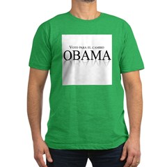 Voto para el cambio: Obama Men's Fitted T-Shirt (d