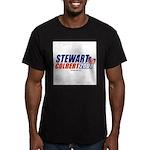 Stewart / Colbert 2008 - Men's Fitted T-Shirt (dar