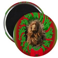 Sussex Spaniel Christmas Magnet