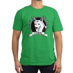 Corgi Men's Fitted T-Shirt (dark)