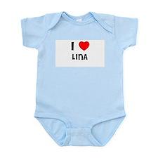 I LOVE LINA Infant Creeper