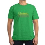 Green Men's Fitted T-Shirt (dark)