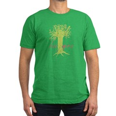 Tree Hugger Shirt Men's Fitted T-Shirt (dark)