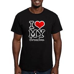 I love my grandma Men's Fitted T-Shirt (dark)