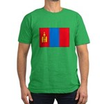 Mongolian Flag Men's Fitted T-Shirt (dark)
