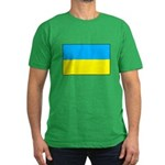 Ukranian Flag Men's Fitted T-Shirt (dark)