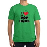 I love pop rock Men's Fitted T-Shirt (dark)