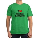 I love United Kingdom Men's Fitted T-Shirt (dark)