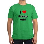 I love strap ons Men's Fitted T-Shirt (dark)