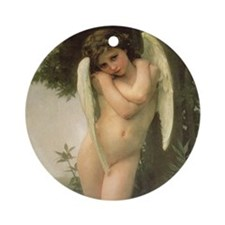 Cupidon (Cupid) by Bouguereau Ornament (Round)