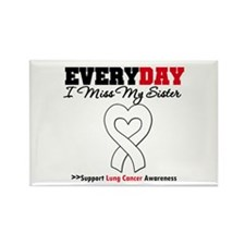 LungCancer MissMySister Rectangle Magnet
