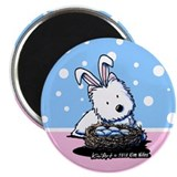 "Easter Rabbit Westie 2.25"" Magnet (100 pack)"