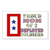 Proud Mom of 2 Deployed Soldiers Decal