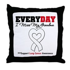 LungCancer MissMyGrandma Throw Pillow