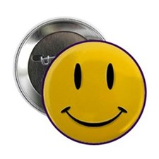 """Yellow Smiley Face 2.25"""" Button (10 pack)"""