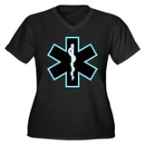 Star of life #2 Women's Plus Size V-Neck Dark T-Sh