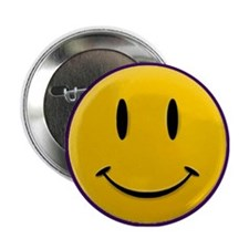 "Yellow Happy Face 2.25"" Button"