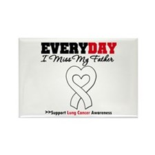 LungCancer Father Rectangle Magnet (100 pack)