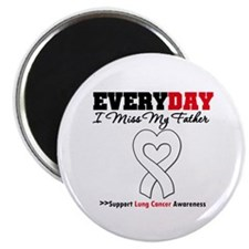 "LungCancer Father 2.25"" Magnet (100 pack)"