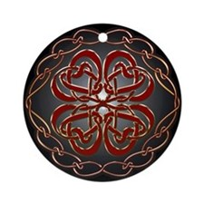 Celtic Knot Hearts Ornament (Round)