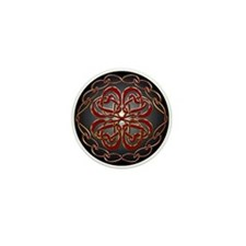 Celtic Knot Hearts Mini Button