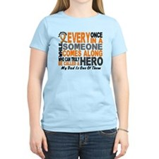 HERO Comes Along 1 Dad LEUKEMIA T-Shirt
