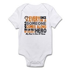 HERO Comes Along 1 Dad LEUKEMIA Infant Bodysuit