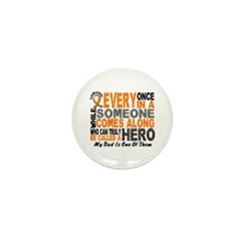 HERO Comes Along 1 Dad LEUKEMIA Mini Button (10 pa