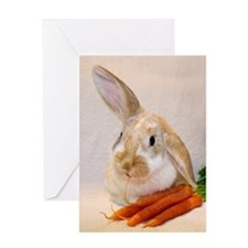 Bunny Ears Birthday Greeting Card