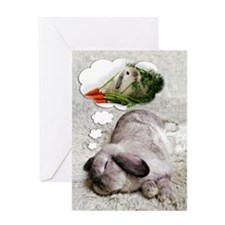 Bunny Birthday Dreams Greeting Card