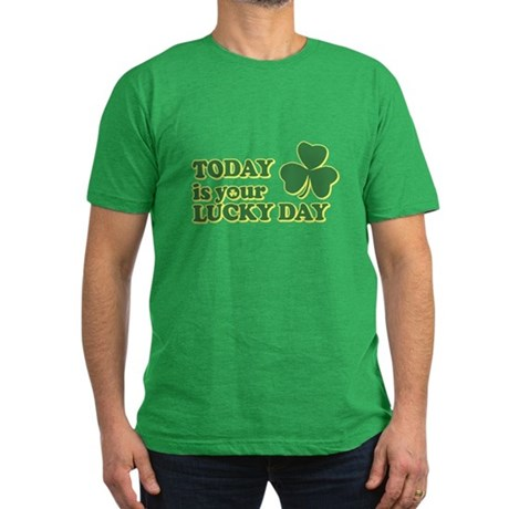 Today Is Your Lucky Day Mens Fitted Dark T-Shirt