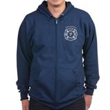 Firefighters Wife Zipped Hoodie
