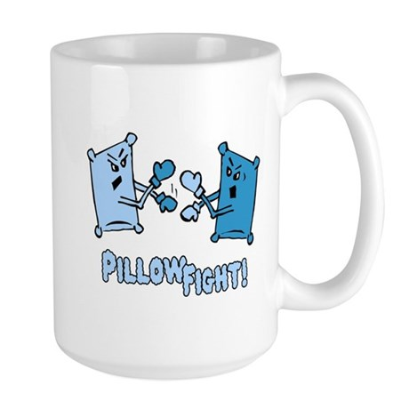 Pillow Fight Large Mug