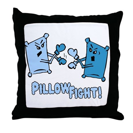 Pillow Fight Throw Pillow