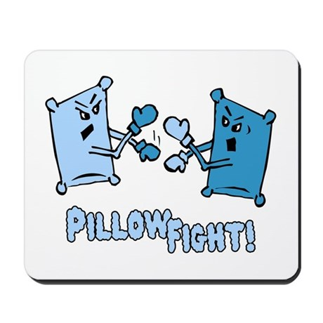 Pillow Fight Mousepad