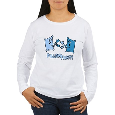 Pillow Fight Womens Long Sleeve T-Shirt