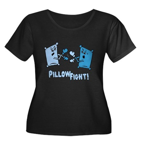 Pillow Fight Womens Plus Size Scoop Neck Dark T-S