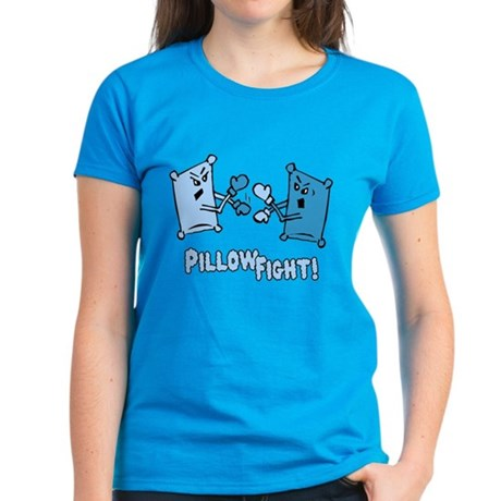 Pillow Fight Womens T-Shirt