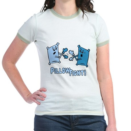Pillow Fight Jr Ringer T-Shirt