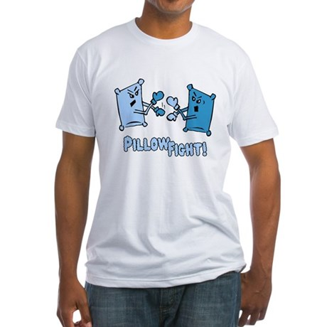 Pillow Fight Fitted T-Shirt