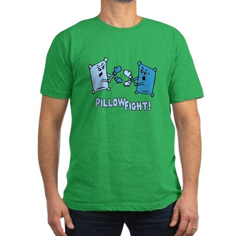 Pillow Fight Mens Fitted Dark T-Shirt